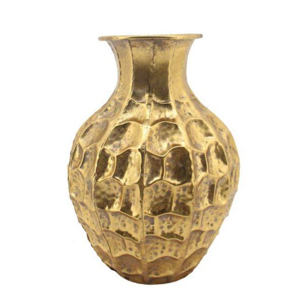 Επιτραπέζιο Βάζο Μεταλλικό Χρυσό Με Παλαίωση 31x45cm