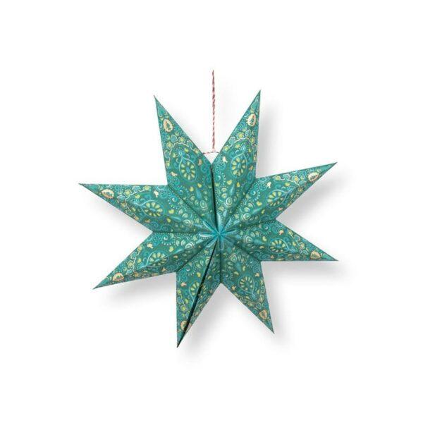 PIP Χριστουγεννιάτικο Αστέρι 'Poinsettia' Πράσινο Δ60, Σχέδιο Α