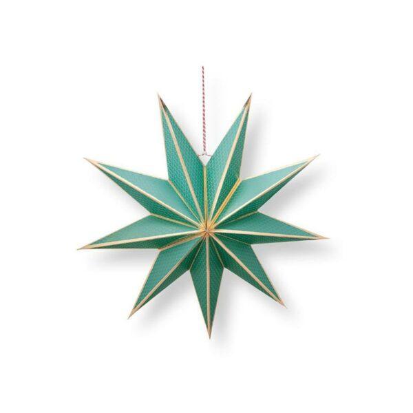 PIP Χριστουγεννιάτικο Αστέρι 'Poinsettia' Πράσινο Δ60, Σχέδιο Β