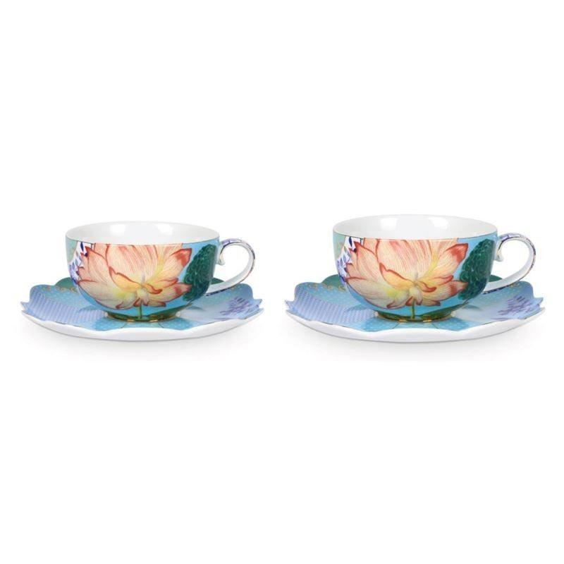 PIP Φλυτζάνια Και Πιατάκια Cappuccino 'Royal Tableware΄ 225ml, Σετ Των 2