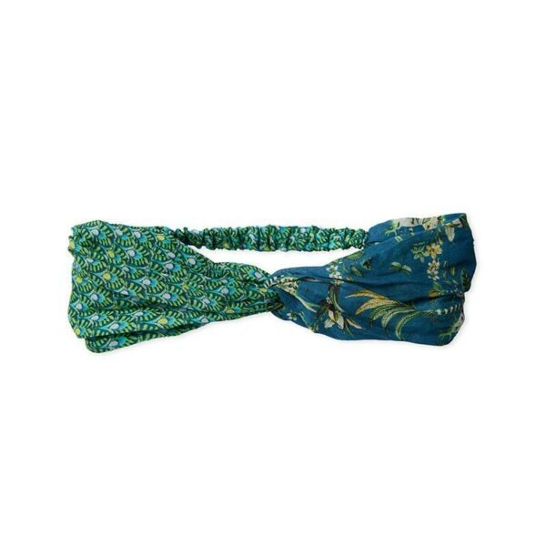 PIP Κορδέλα Μαλλιών 'Head Band Tropic Twin Green/ Blue'