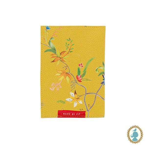 PIP Θήκη Διαβατηρήριου 'Petite Fluers' Κίτρινο 14x10cm